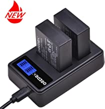 Grepro NP-W126 Battery (2 Pack) and Dual USB LCD Charger Set Compatible with Fuji X-T1 X-T2 X-T10 X-T20 X100F X-Pro1 X-Pro2 X-E2 FinePix HS30EXR HS35EXR HS50EXR Fuji X-A1 X-A2 X-A3 X-E1 X-E2S X-M1