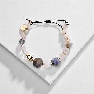 مجوهرات الأزياء الحجر الطبيعي الخرز سوار قابل للتعديل تمتد النساء أساور يانجين (اللون: متعدد)