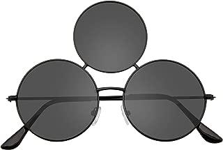 Emblem Eyewear - Novelty Oversize Triple Round Circle Color Tone Sunglasses