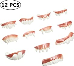 12 Pieces Gnarly Teeth Gag Teeth Ugly Fake Teeth Bob Teeth Vampire Denture Teeth for Halloween Costume Party Favors 12 Styles (Color A)