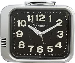 Seiko Alarm Clock (8.8 cm x 10.9 cm x 6.5 cm, Black, QHK028AN)