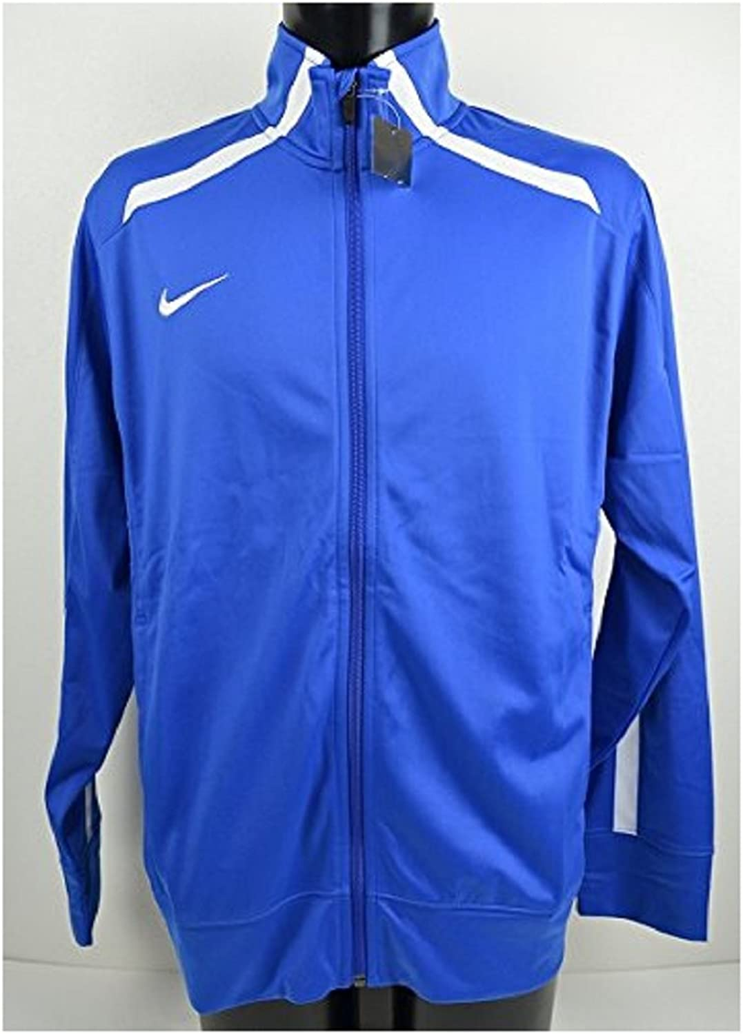 NIKE Nike DRIFIT dry fit jacket jersey on the men's XL (176185cm) longsleeved genuine national 728,028 blueee × White