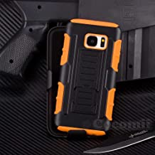 Cocomii Robot Armor Galaxy S7 Edge Funda NUEVO [Robusto] Superior Funda Clip Para Cinturón Soporte Antichoque Caja [Militar Defensor] Cuerpo Completo Case Carcasa for Samsung Galaxy S7 Edge (R.Orange)