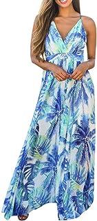 Women's Floral Bodycon Derss Elegant Sleeveless Party Long Dress