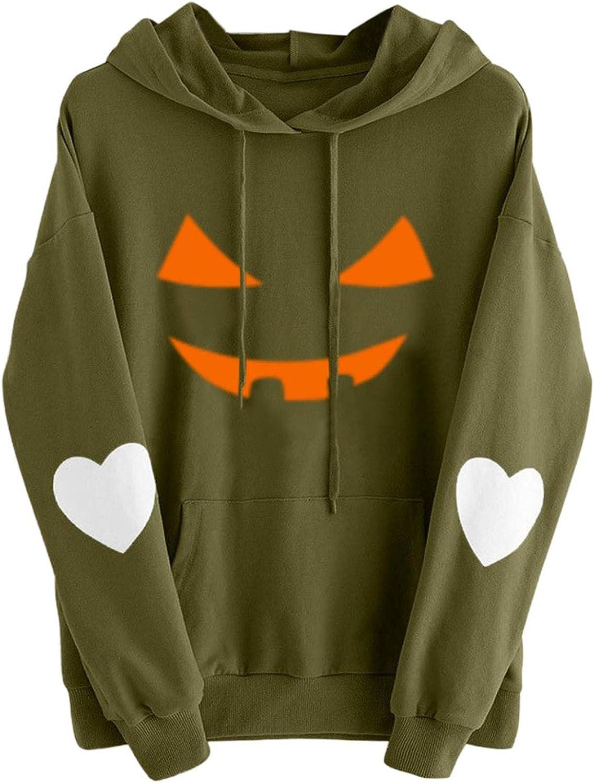 Women's Halloween Hoodies Long Sleeve Pumpkin Love Funny Heart Challenge Sale the lowest price of Japan ☆ P