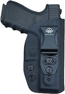 IWB Kydex Holster Fit: Glock 19 19X / Glock 23 / Glock 25 / Glock 32 / Glock 45 (Gen 1-5) Cz P10 Pistol Case Inside Waistband Carry Concealed Holster Glock 19 Guns - Adj. Height & Cant, Entrance Widen