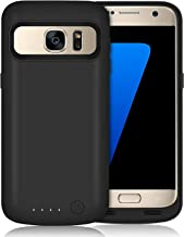 Galaxy S7 Battery Case 5000mAh Upgraded Portable Rechargeable Extended Battery Pack for Samsung Galaxy S7 Charging Case for Galaxy S7 Protective Charger Cover -Black