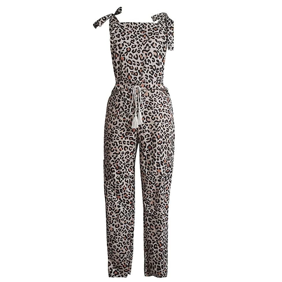 CCatyam Jumpsuit for Women, Trousers Pants Leopard Print Sexy Casual Summer Fashion