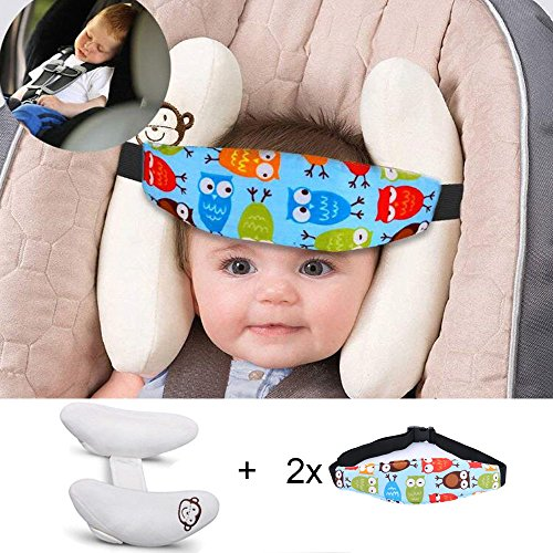 Adjustable Baby Soft Head Support & Head Support Band - Children Travel Car Seat Safety Pillow Cushion, Banana U-Shape Stroller Head Support Best Gift for Toddler Kids and Infants