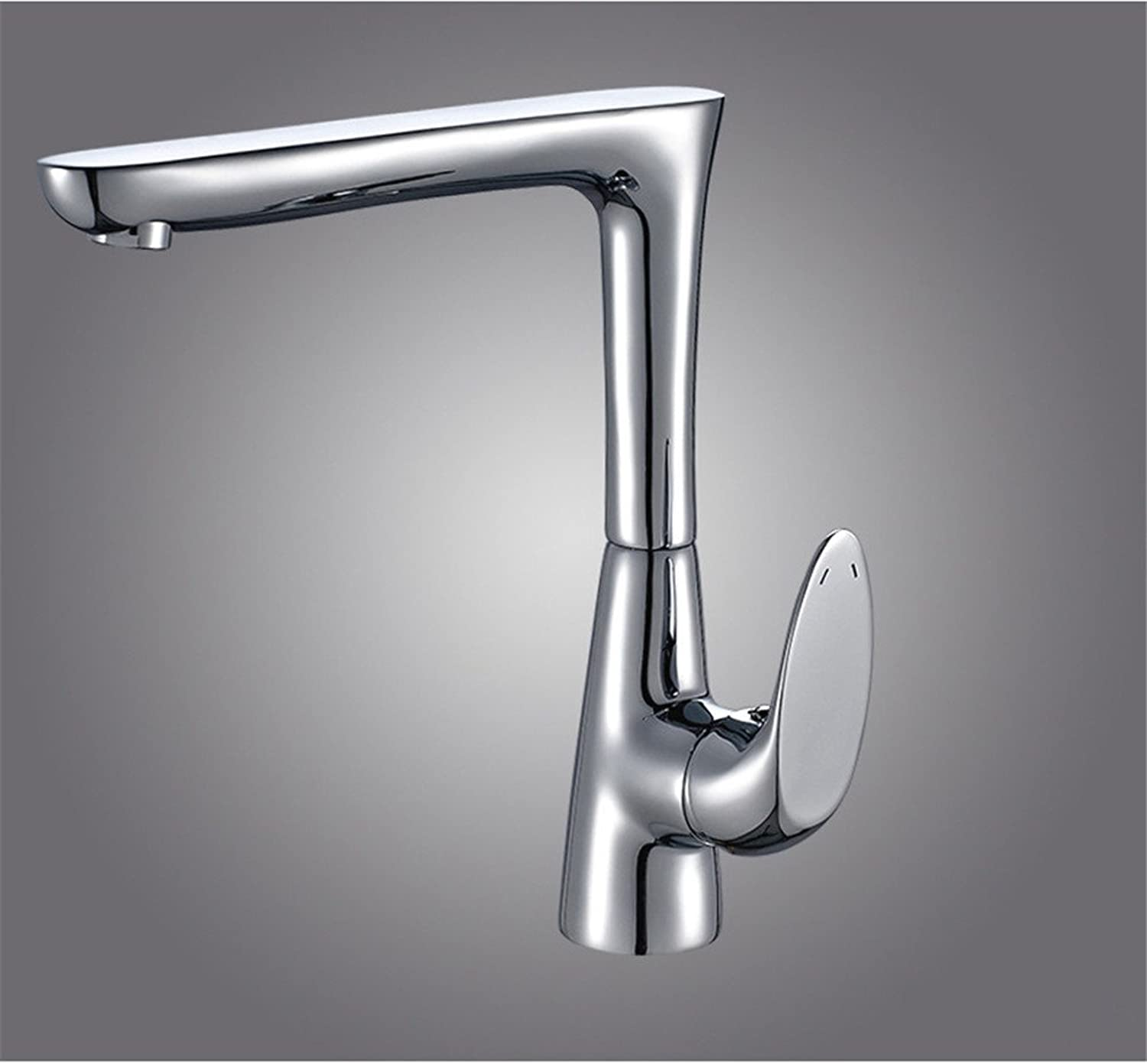 Hlluya Professional Sink Mixer Tap Kitchen Faucet The Brass chrome faucet kitchen sink faucet mixing of hot and cold water to redate the tap Faucet