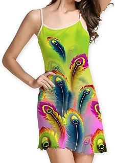da94b14a1e Toimothcn Womens Floral Print Sleeveless Camisole Dress Casual Bench Mini  Sundress