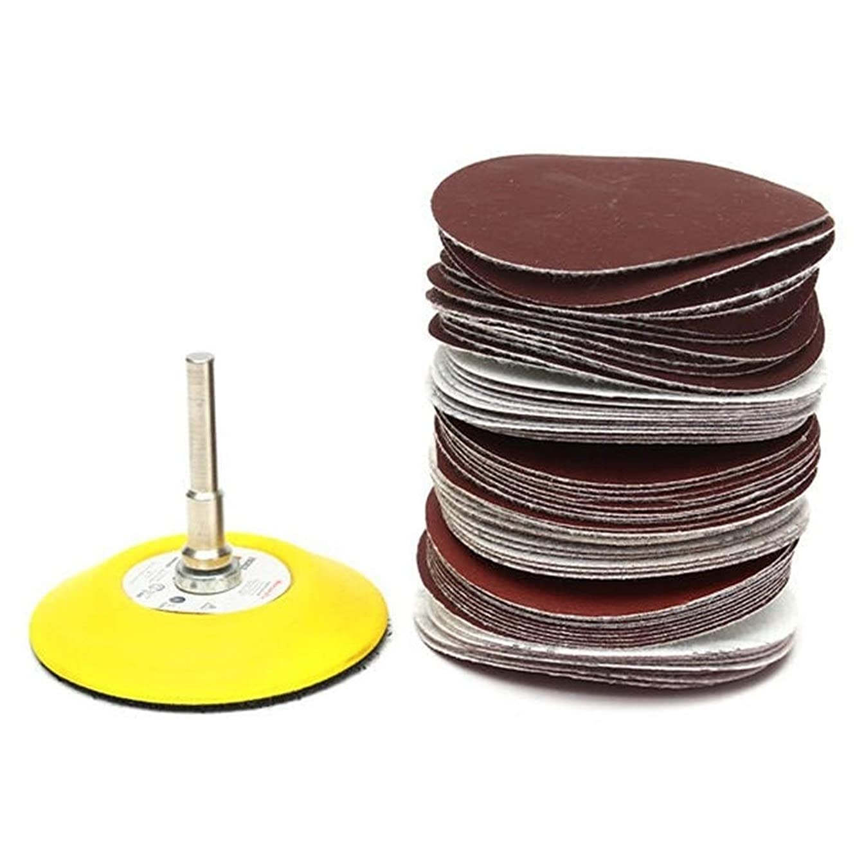 テニスオセアニア冷笑するZKS-KS 3インチのツールで研磨材60pcs研磨剤フックとループサンディングパッド?サンドペーパーミックスセット 砥粒