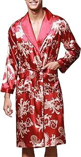 Women Mens Couple Satin Pajamas 3 Piece Set Vest Nightwear with Bathrobes