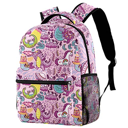 Backpack Unicorn Cat Dinasour Monster School Bag Rucksack Travel Casual Daypack for Women Teen Girls Boys