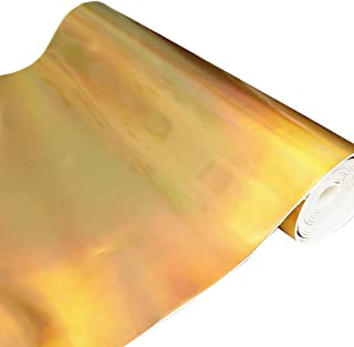 ZAIONE Hologram Mirrored Faux PU Leather Fabric 8