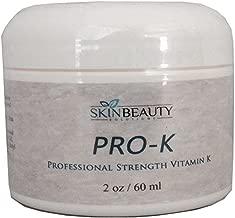 2oz -Pro-K Vitamin K Cream Professional Strength- Rosacea Capillaries, Thread Spider Varicose Veins, Puffy Dark Under Eye Circles.