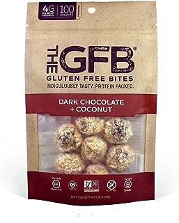 The GFB Gluten Free, Non GMO High Protein Bites, Dark Chocolate Coconut, 4 Ounce (6 Count)