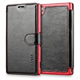 Mulbess Coque pour Sony Xperia Z3, Etui Sony Xperia Z3 Cuir avec Magnetique, Layered Housse Protection pour Sony Xperia Z3 Case,...