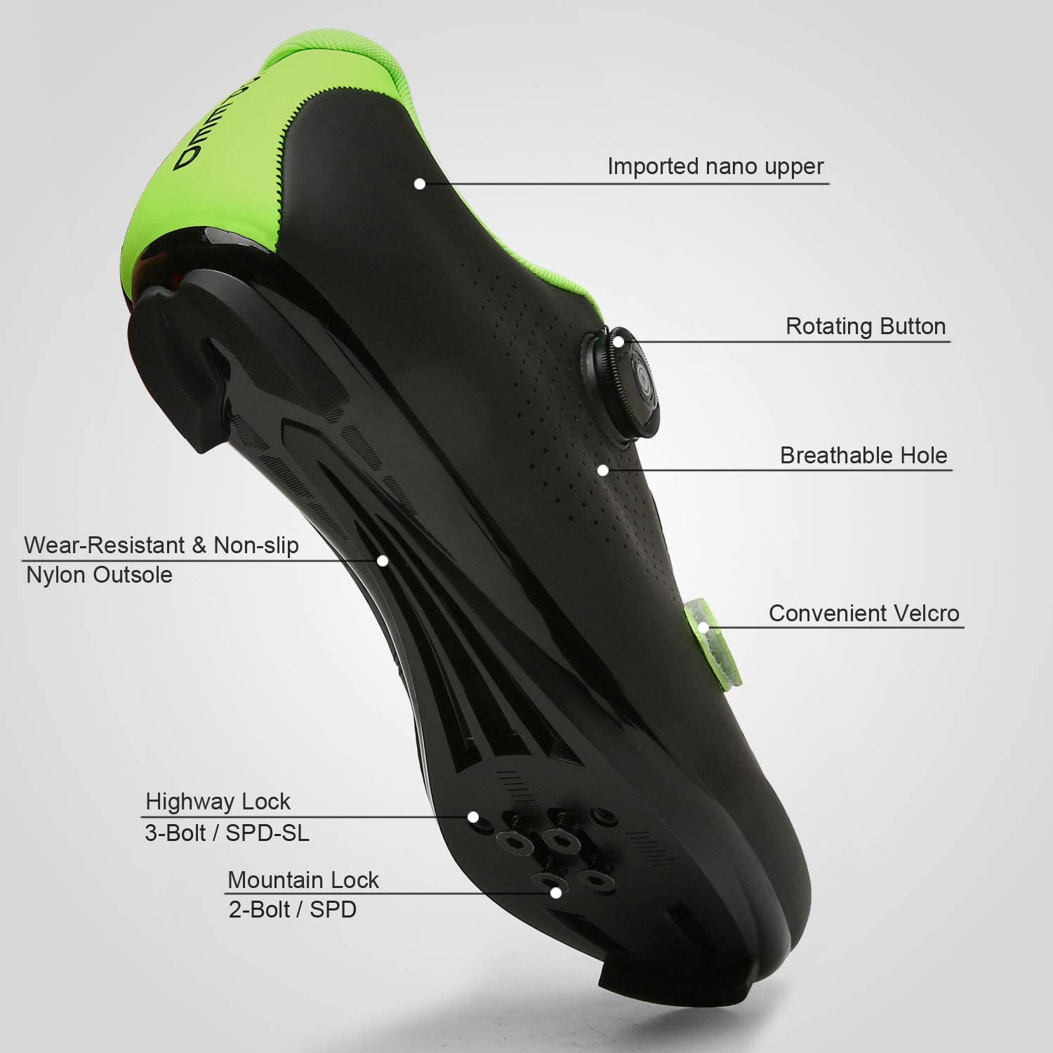 LakeRom Cycling Shoes for Men Women Road Riding Rotating Shoe Buckle Breathable Cleat Compatible SPD Indoor Cycling Shoes