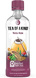 Sponsored Ad - Tea of a Kind Berry Basil Yerba Mate Tea, Natural Real Brewed Yerba Mate & Black Tea, Zero Calorie, Antioxi...
