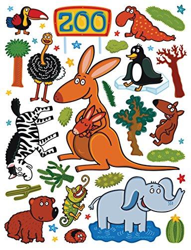AG Design Sticker Mural Zoo k1047 Sticker Mural, polymère Film Multicolore 65 x 0,02 x 85 cm