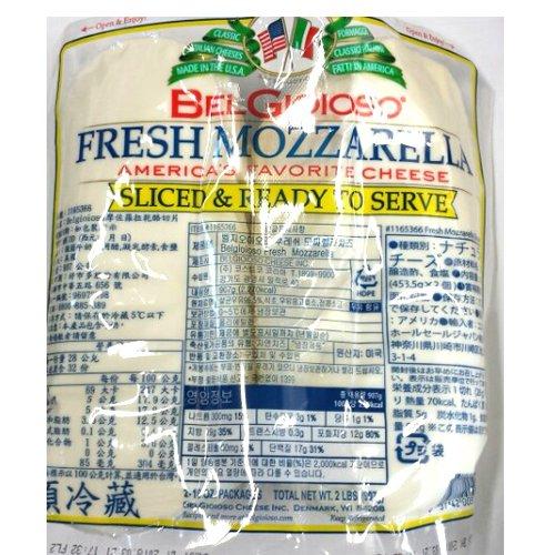 ■【BEL GIOIOSO】 ベルジョイオーゾ スライス フレッシュ モッツァレラチーズ 907g【冷蔵】