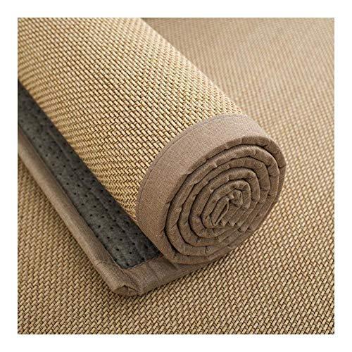JIAJUAN Rechteck Naturfasern Bambus Teppich rutschfest Groß Fußboden Matte Schlafzimmer Wohnzimmer Balkon Atmungsaktiv Bereich Teppiche, 2 Arten (Color : B, Size : 100x150cm)