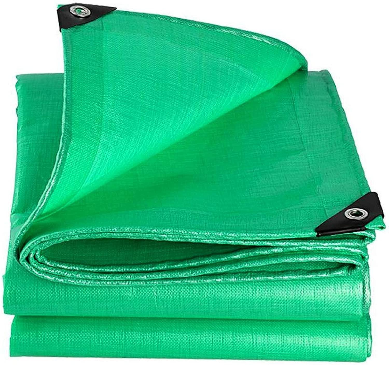ZX タープ タープ、 防水ターポリン、 厚い PE グロメットとの紫外線抵抗力がある、 キャンプや屋外用 テント アウトドア (Color : 緑, Size : 8x12m)