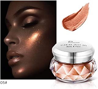 Clearance Sale! Highlighter Cream for Women, Iuhan 8 Colors Jelly Gel Highlighter Make Up Concealer Shimmer Face Glow Eyeshadow Highlighter Cream (E)
