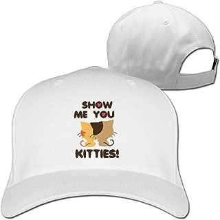 Love Animals Show Me Your Kitties Cute Cat Adjustable Baseball Cap Hat