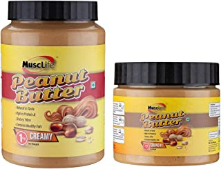 Musclife Creamy Peanut Butter 1Kg And Crunchy Peanut Butter 340gms(Combo)