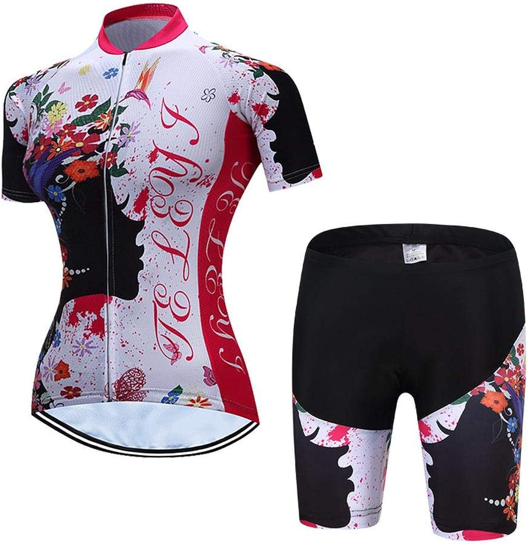 Damen Radtrikot Jersey Frauen Trikots Sport MTB Blause Kurzarm Fahrrad T-Shirts Top Outdoor Reiten C-XXL