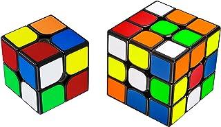 魔方 キューブ 2個セット【2×2、3×3】 立体パズル【日本語6面完成攻略書付き】競技用 ポップ防止 知育玩具 対象年齢:6歳以上