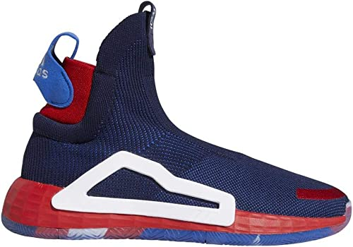 Adidas N3xt L3v3l Chaussures de Basketball pour Homme Bleu Marine Blanc écarlate