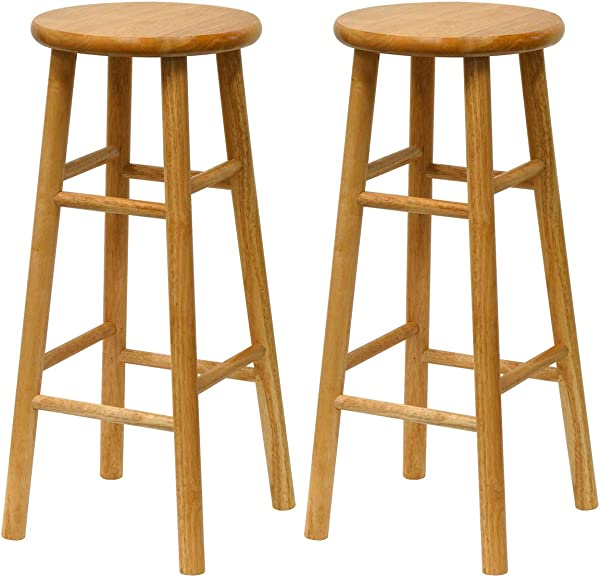Winsome Wood S 2 Wood 30 Inch Bar Stools Natural Finish
