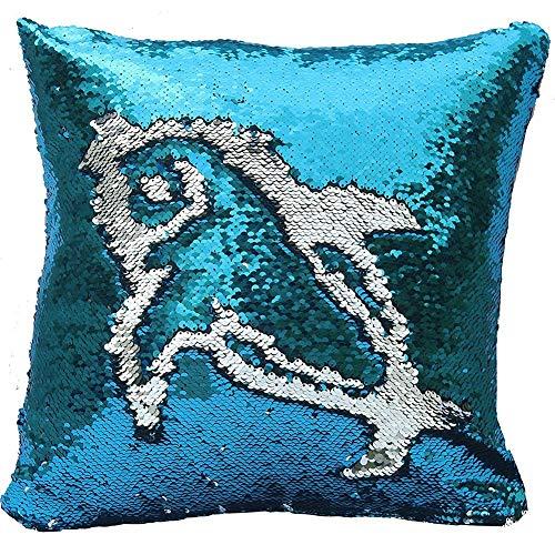 Mr. Gadget Solutions - Cojín para sofá (40,6 cm), diseño de Sirena, Color Azul y Plateado