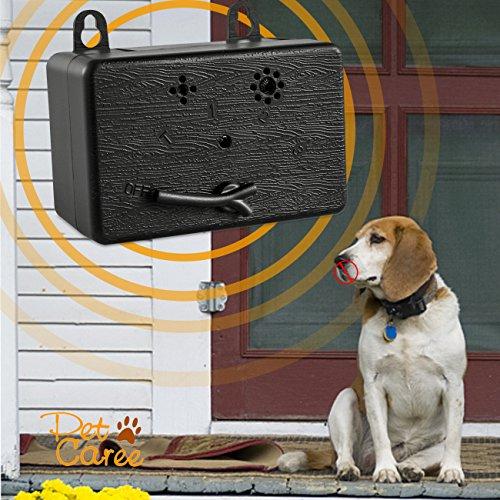 Upgraded Mini Bark Control Device Outdoor Anti Barking Ultrasonic Dog Bark Control Sonic Bark Deterrents Silencer Stop Barking Bark Stop Repeller (Black1)