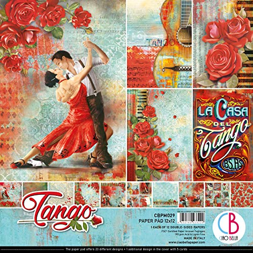 CIAO BELLA Papier-Packung, 12 x 12 Stück, Tango, 12 Designs/1 Stück