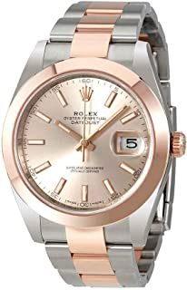 Datejust 41 Sundust Dial Steel and 18K Rose Gold Mens Watch 126301SNSO