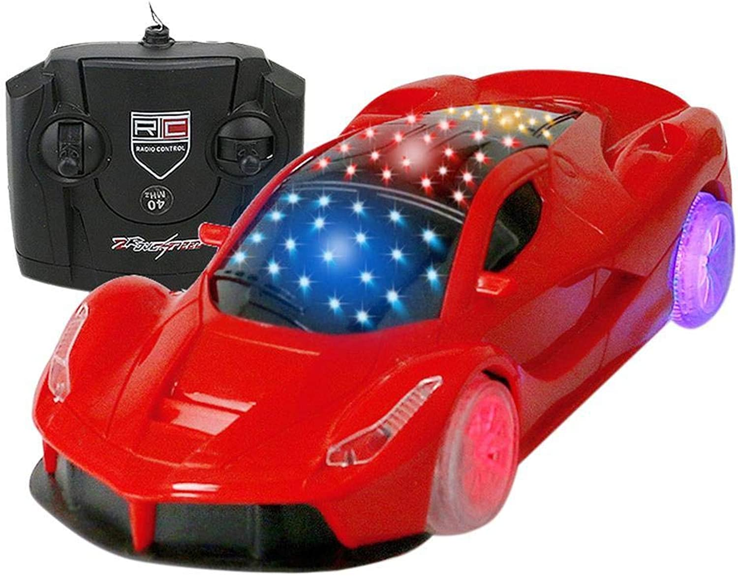 Generic Electric Remote Control Toy Car Model with USB Cable Flashing Casual Led Lights LED Kids 1050m Gifts 1 18 red Ferrari Shape