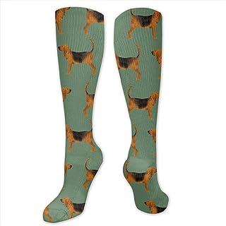 Bloodhound Simple Med Verde Novedad Tube Calcetines Para Ciclismo Unisex Moda Calcetines Largos