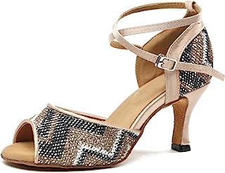 Miyoopark GL247 Women's Cross Strap Glitter Latin Dance Shoes Party Sandals