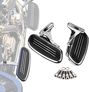 Best Street Glide Passenger Floorboards with Mount Bracket Kits for Road King Road Glide Electra Glide Touring 1993-2020 Floor Boards Chrome Review