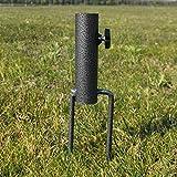 KOET Base de paraguas portátil, soporte de estaca de césped para sombrilla resistente y ajustable, soporte de anclaje para patio/mercado/mesa/paraguas al aire libre