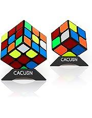 スピードキューブ CACUSN 2個セット(2×2、3×3) 令和進化版進化型 回転スムーズ 競技用 立体パズル 世界基準配色 パズルスタンド付き
