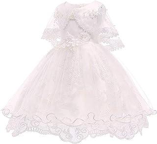 KINDOYO Baby Girls Dress - Baby Newborn Girls Cute Pretty Tulle Flower Christening Baptism Wedding Princess Dresses