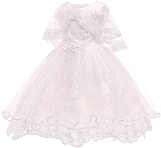 ZEVONDA Infant Girls Pretty Dress - Soft Tulle Lace Flower Cute Baby Girl Bridesmaid Pageant Birthday Party Princess Dress