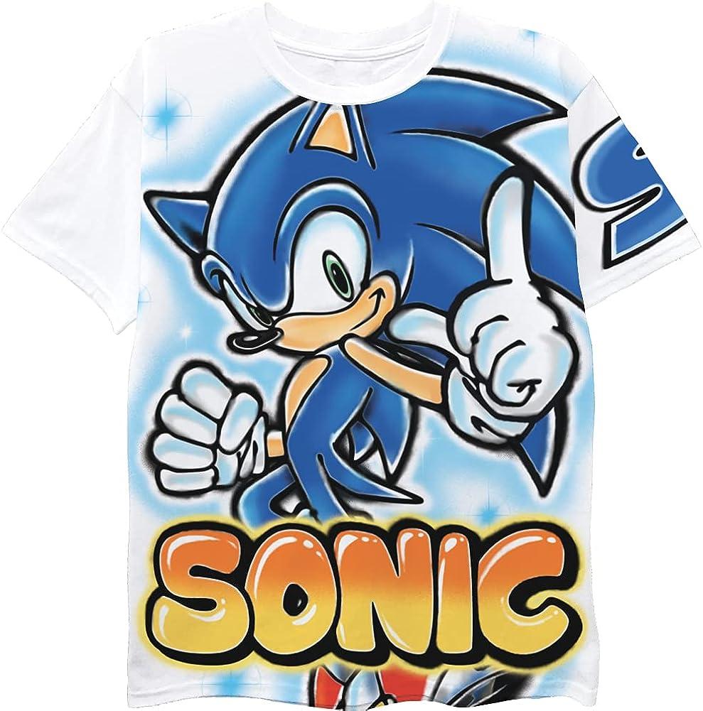 FREEZE Sonic The Hedgehog Boys Short Sleeve T-Shirt - Air Brushed Sonic Boys T-Shirt