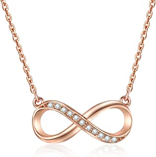 Mestige Rose Gold Infinitely Yours Necklace with Swarovski® Crystals, Infinity, Love, Gift