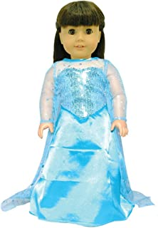 Pink Butterfly Closet Doll Dress - Queen Elsa Inspired Outfit Fits American Girl Doll Our Generation and 18 inch Dolls